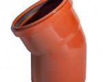 ОТВОД канализационный наружный D 110  30* рыжий