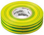 Изолента ПВХ 15мм (рул.20м) жел/зел. NIT-B15-20/YG Navigator 71108
