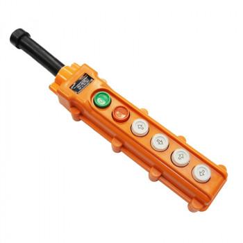 TDM Пульт управления ПКТ-40ПС кнопки Пуск с фиксацией стоп/вверх/вниз/влево/вправо IP54 SQ0706-0008