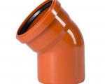 ОТВОД канализационный наружный D 160  45* рыжий