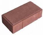 ТРОТУАРНАЯ ПЛИТКА КИРПИЧИК брусчатка 70мм коричневая (красный) 1м2-48шт 2,750кг