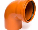 ОТВОД канализационный наружный D 160  90* рыжий