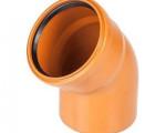 ОТВОД канализационный наружный D 110  45* рыжий